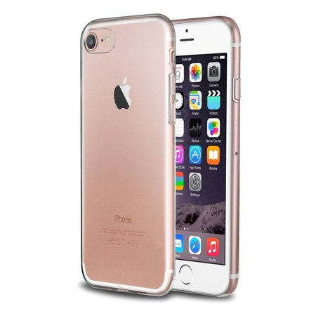 big sale a4ab8 4a619 iPhone 8 Case, iPhone 7 Case, by Insten Transparent TPU Rubber Shell Case  For Apple iPhone 8 / iPhone 7 - Clear (Ultra Slim fit)