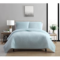 VCNY Home Dreamy Lux Solid Plush Quilt Set