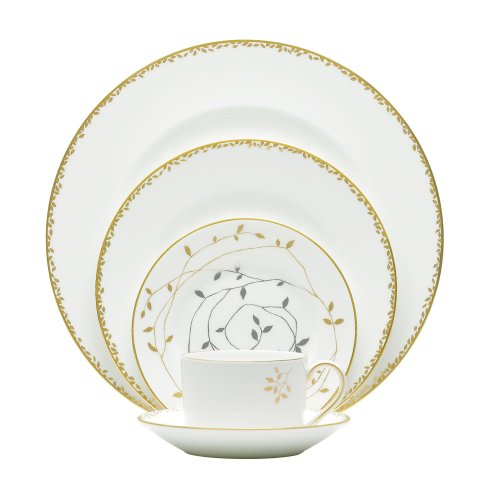 Vera Wang Gilded Leaf 5 Piece Place Setting