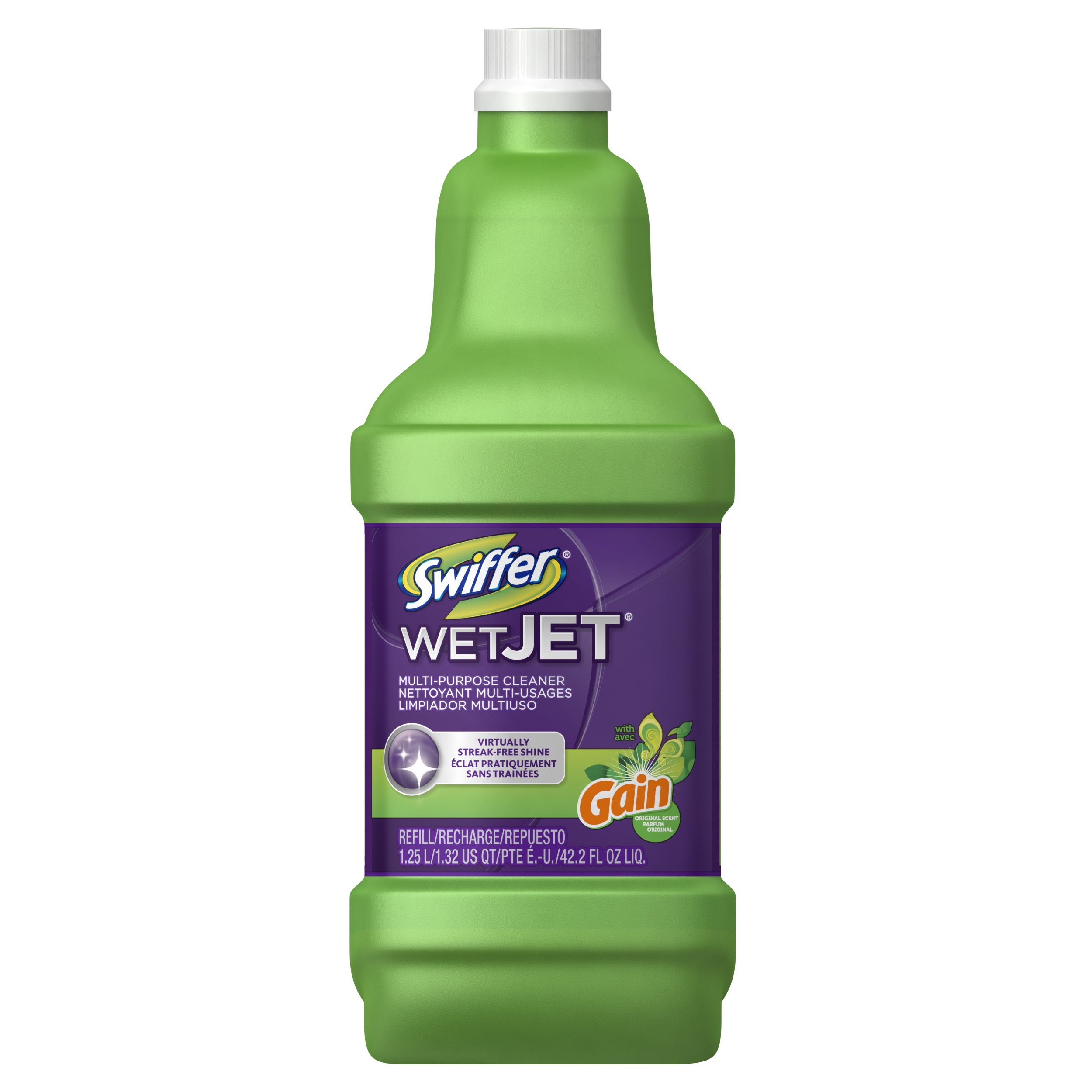 Swiffer Wet Jet All-Purpose Cleaner with Gain Scent Refill, 1.25 L