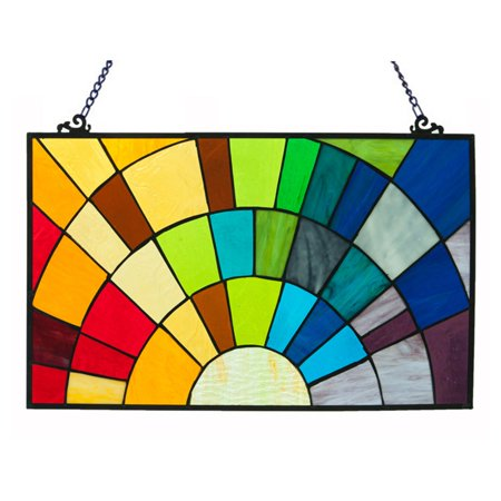 River of Goods Tiffany Style Stained Glass Rays of Sunshine Window Panel (Stained Glass Girl)