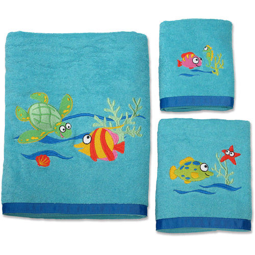 Generic Fish Tails 3 - Piece Towel Set