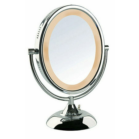 Jerdon 8 Quot Tabletop 2 Sided Swivel Oval Halo Lighted Vanity