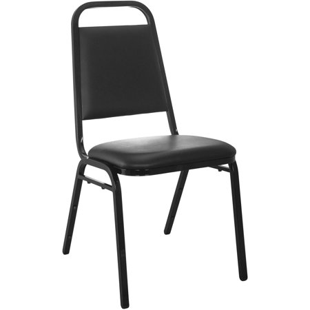 Vinyl Padded Stack Chair - Advantage Series Stacking Banquet Chair with Vinyl and 1.5