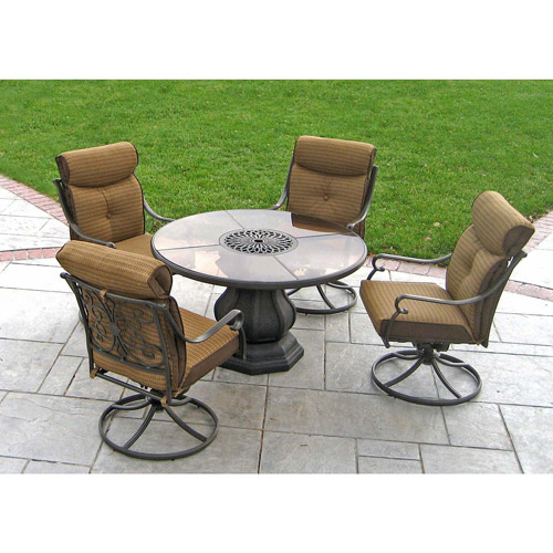 Better Homes And Gardens Mika Ridge 5 Piece Outdoor Dining Set, Brown, Box