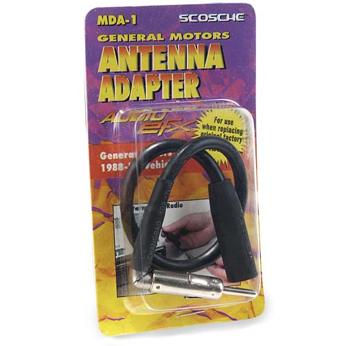 scosche automotive wire harness -1988-up gm micro/delco antenna adapter
