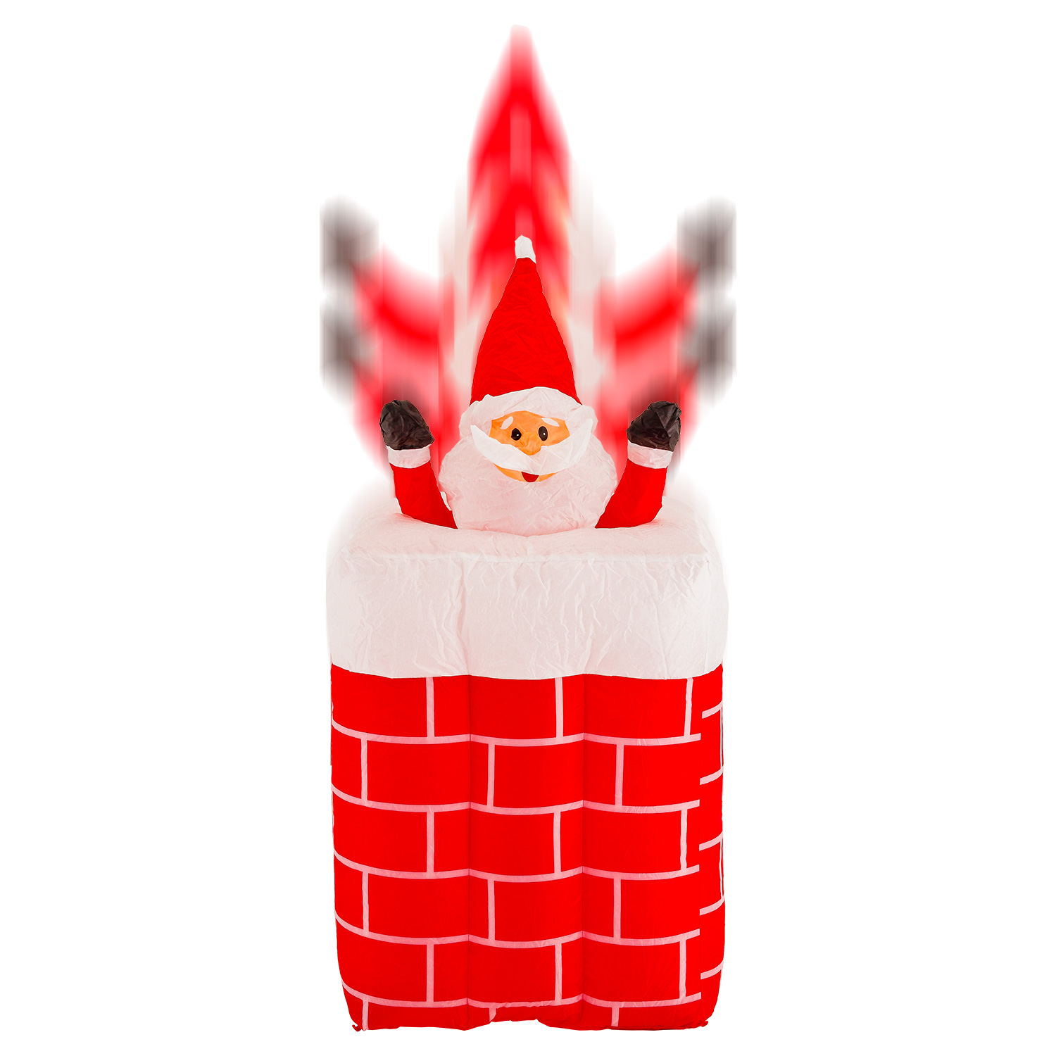 CHRISTMAS SANTA ANIMATED POPPING OUT OF CHIMNEY AIRBLOWN INFLATABLE 5 FT