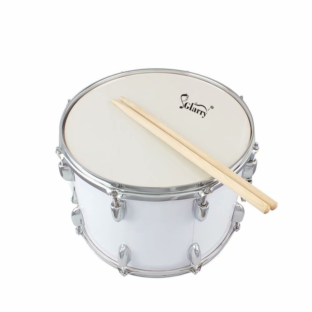 glarry 14 x10 inches marching drum drumsticks key strap white. Black Bedroom Furniture Sets. Home Design Ideas