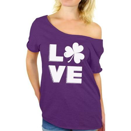 Awkward Styles Love Shamrock Shirt Womens St Patricks Day