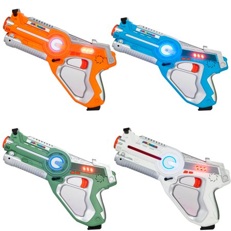 Ktaxon 4Pcs Infrared Laser Tag Toy Guns Blaster Laser Battle Pack Hot Sale Gun Brinquedos for Kids Adults Outdoor Fun & Sports Toy Gift (Plastic Toy Guns)