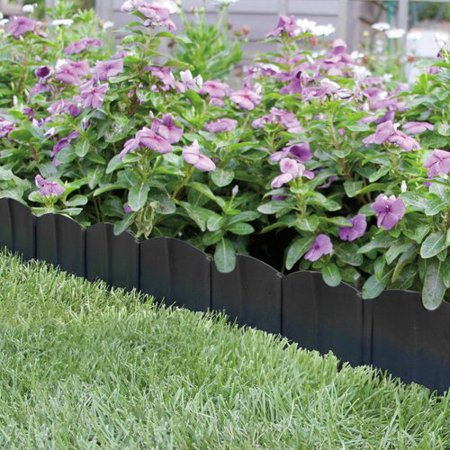 Garden Edging Borders - Suncast Quick Edge QE20 Interlocking Landscape Edging with 40 6 Inch Sections
