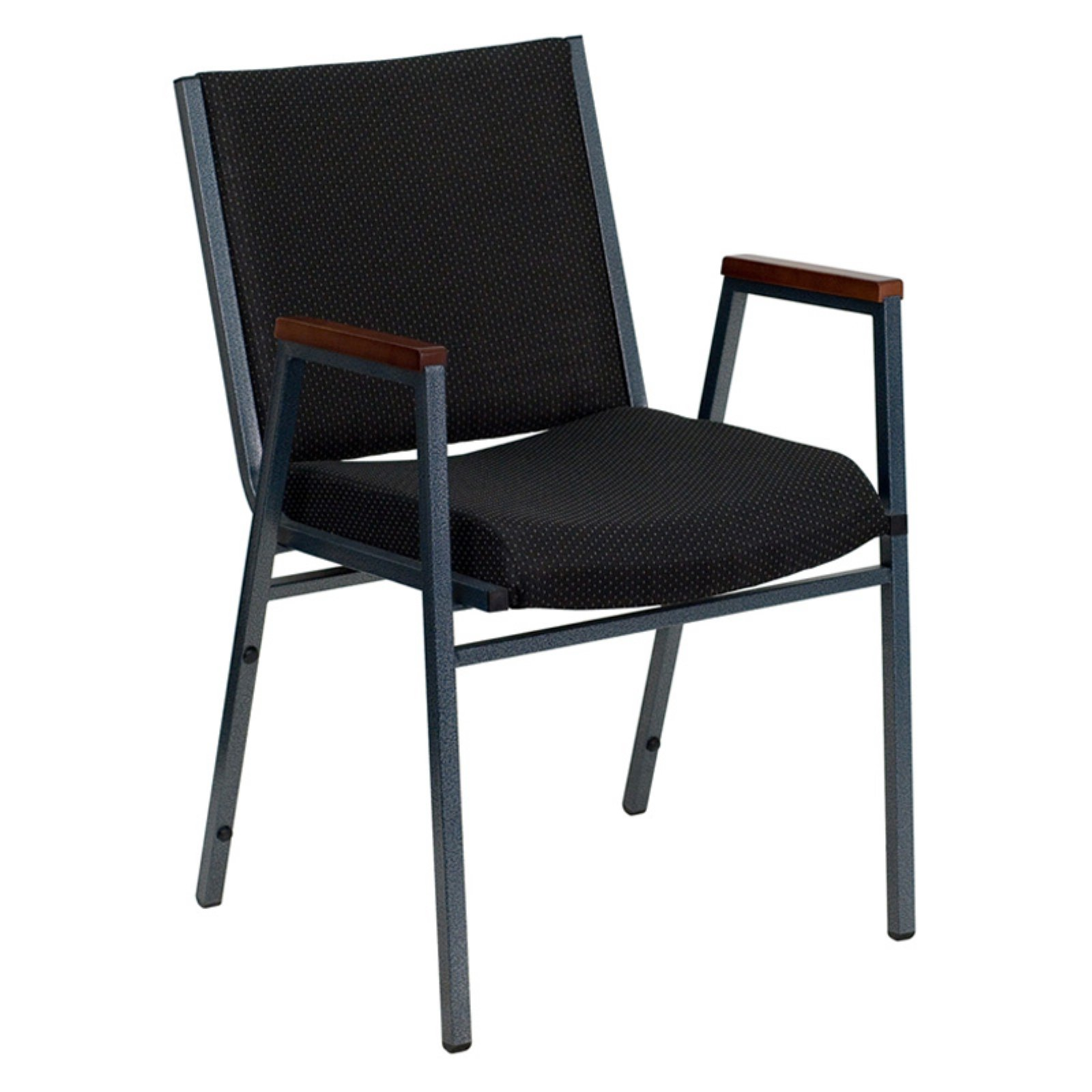 Flash Furniture HERCULES Series Heavy Duty, 3'' Thickly Padded, Patterned Upholstered Stack Chair with Arms and Ganging Bracket, Multiple Colors