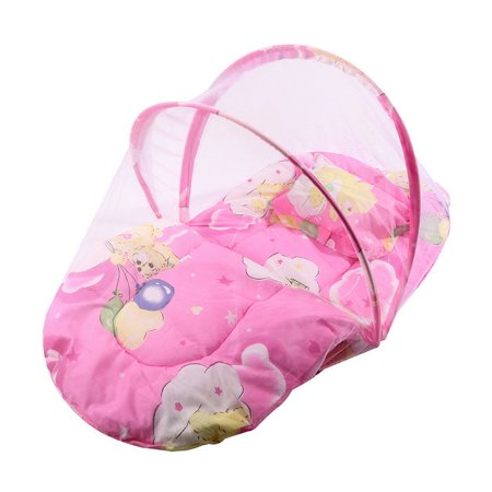 Foldable New Baby Cotton Padded Mattress Pillow Bed Mosquito Net Tent