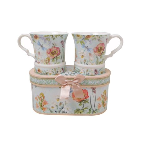 Elegantoss Elegent Bone China Unique Set Of Two 10 8oz Coffee Tea