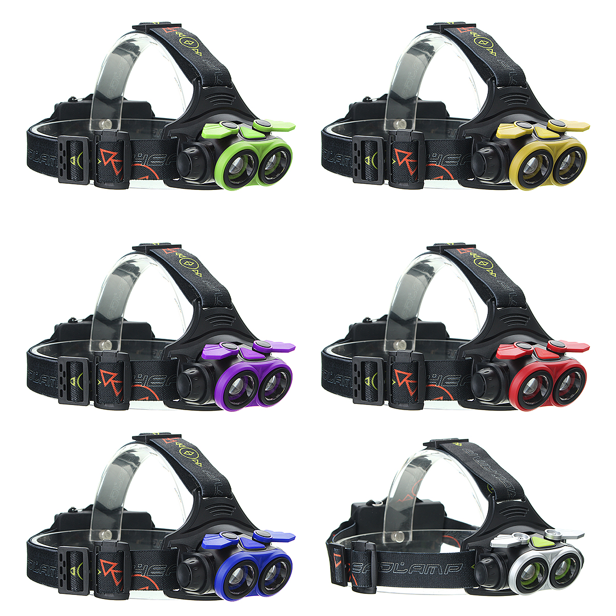Elfeland 4000Lumens  T6 4 Modes LED Headlamp walking lamps Headlight USB Rechargeable with USB Cable