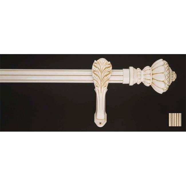 WinarT 8. 1180. 45. 28. 160 Palas 1180 Curtain Rod Set - 1. 75 inch - Raw Umber-White - 63 inch
