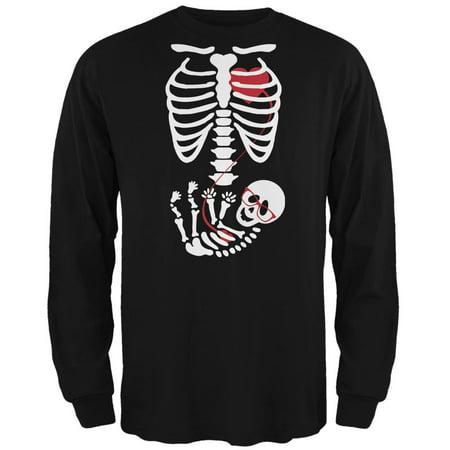 Geek Baby Pregnant Skeleton Halloween Costume Long Sleeve - Happy Halloween Geek