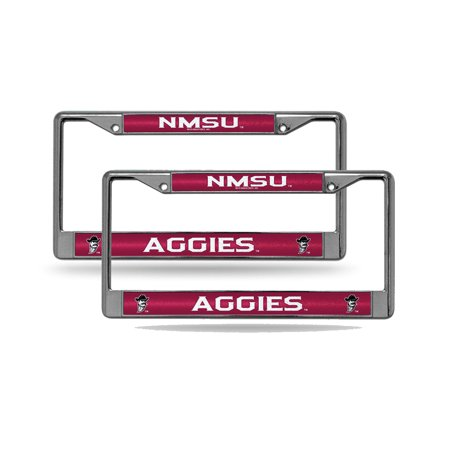 New Mexico State Aggies NCAA?Glitter Bling Chrome (2) License Plate Frame Set