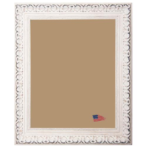American Made Rayne French Victorian White Frame Antiqued White, picture size is 12 x 12