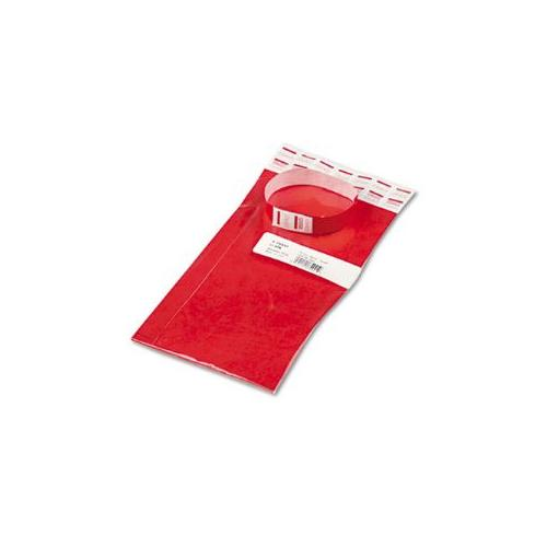 Crowd Management Wristbands, Sequentially Numbered, Red, 100/Pack