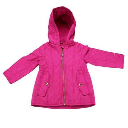 3650febfcc68 London Fog - London Fog Toddler Girls Quilted Fleece Lined Hooded ...