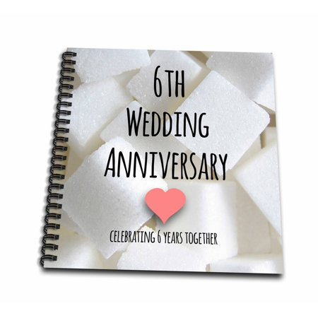 3drose 6th Wedding Anniversary Gift Sugar Celebrating 6 Years