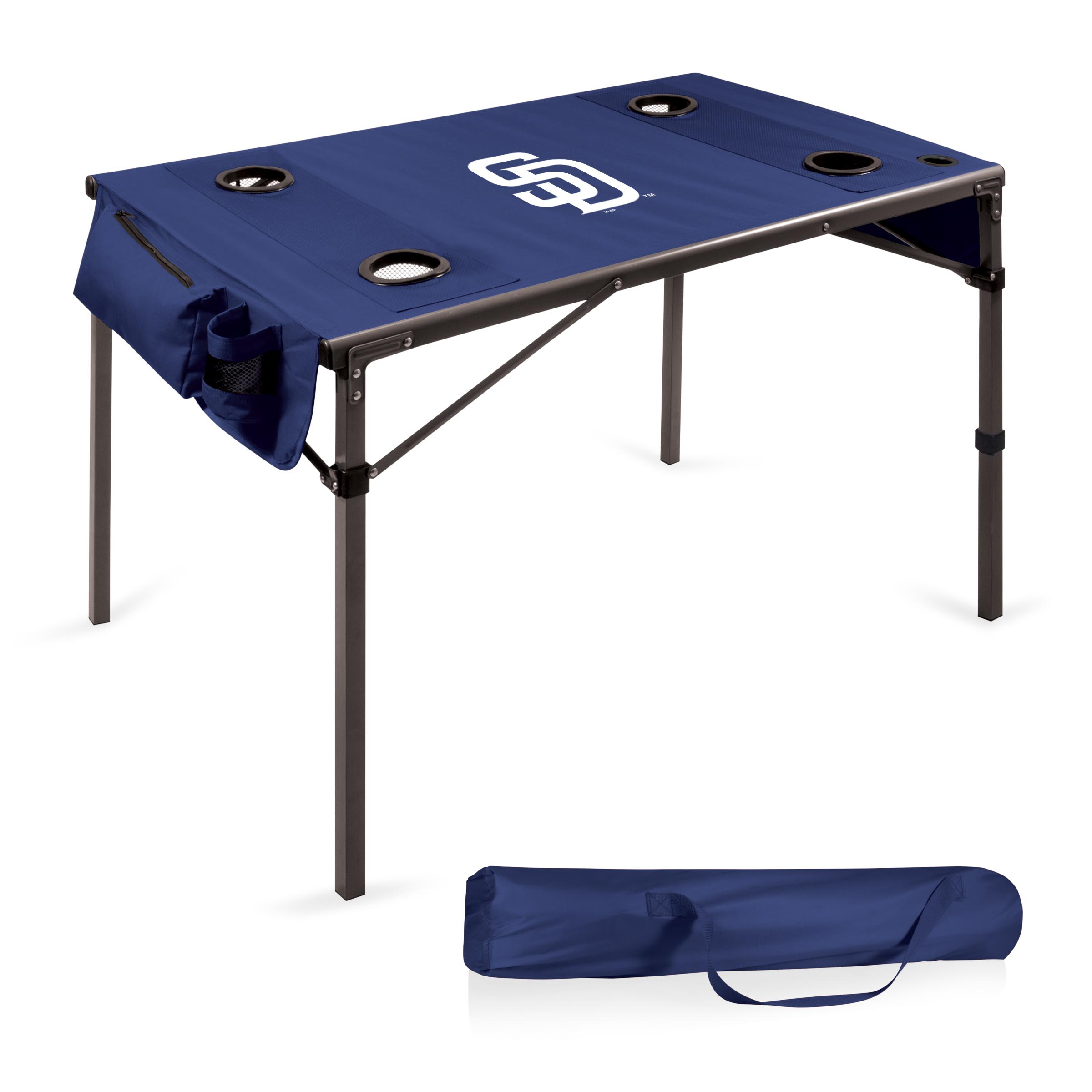 San Diego Padres Portable Folding Travel Table - Navy - No Size