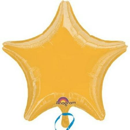 Lot of 10 Gold Star Shape Foil Mylar 19