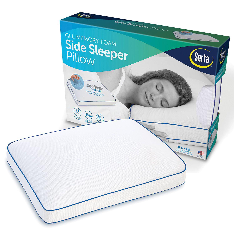 Serta Gel Memory Foam Side Sleeper Pillow Walmart Com