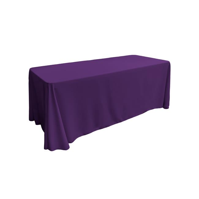 LA Linen TCpop90x132-PurpleP23 Polyester Poplin Rectangular Tablecloth, Purple 90 x 132... by
