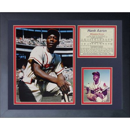 Legends Never Die Hank Aaron - Milwaukee Braves Framed Memorabilia