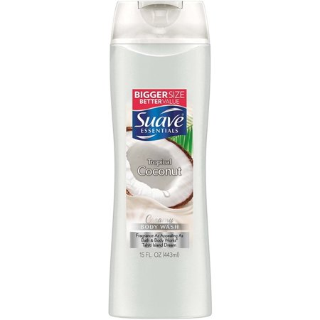 6 Pack - Suave Essentials Body Wash, Creamy Tropical Coconut 12