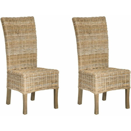 Safavieh Mango Wood Quaker Side Chair, Set of 2, Natural Unfinished
