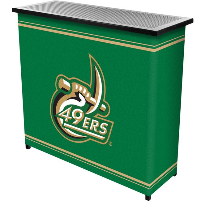 Trademark Poker CLC8000-UNCC University of North CarolinaT 2 Shelf Portable Bar with Case