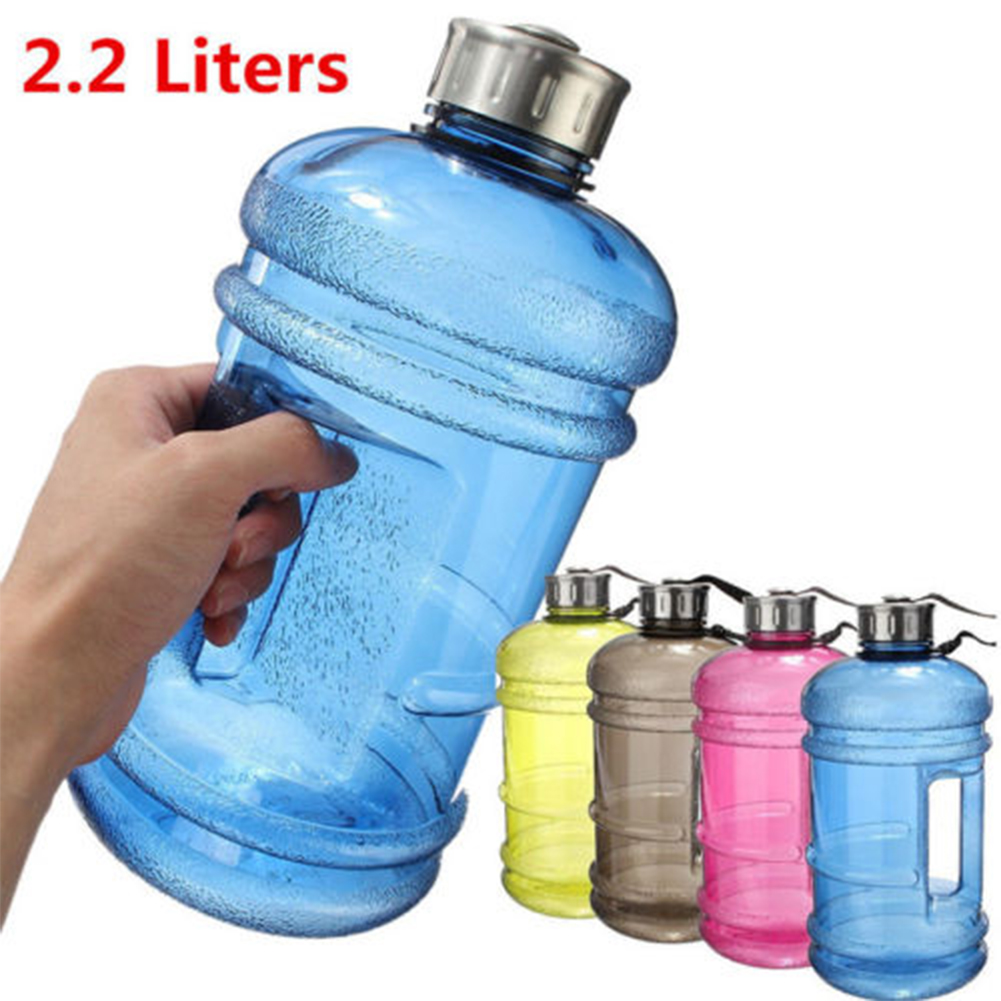 2.2L Large Big BPA Free Sport Gym Training Drink Water Bottle Cap Kettle