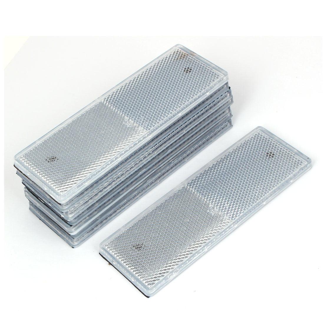 Plastic Rectangle Reflective Warning Vehicle  Reflector Plates White 8 Pcs