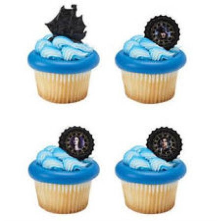 24 Pirates Of The Caribbean Cupcake Cake Rings Birthday Party Favors Toppers](Caribbean Party)