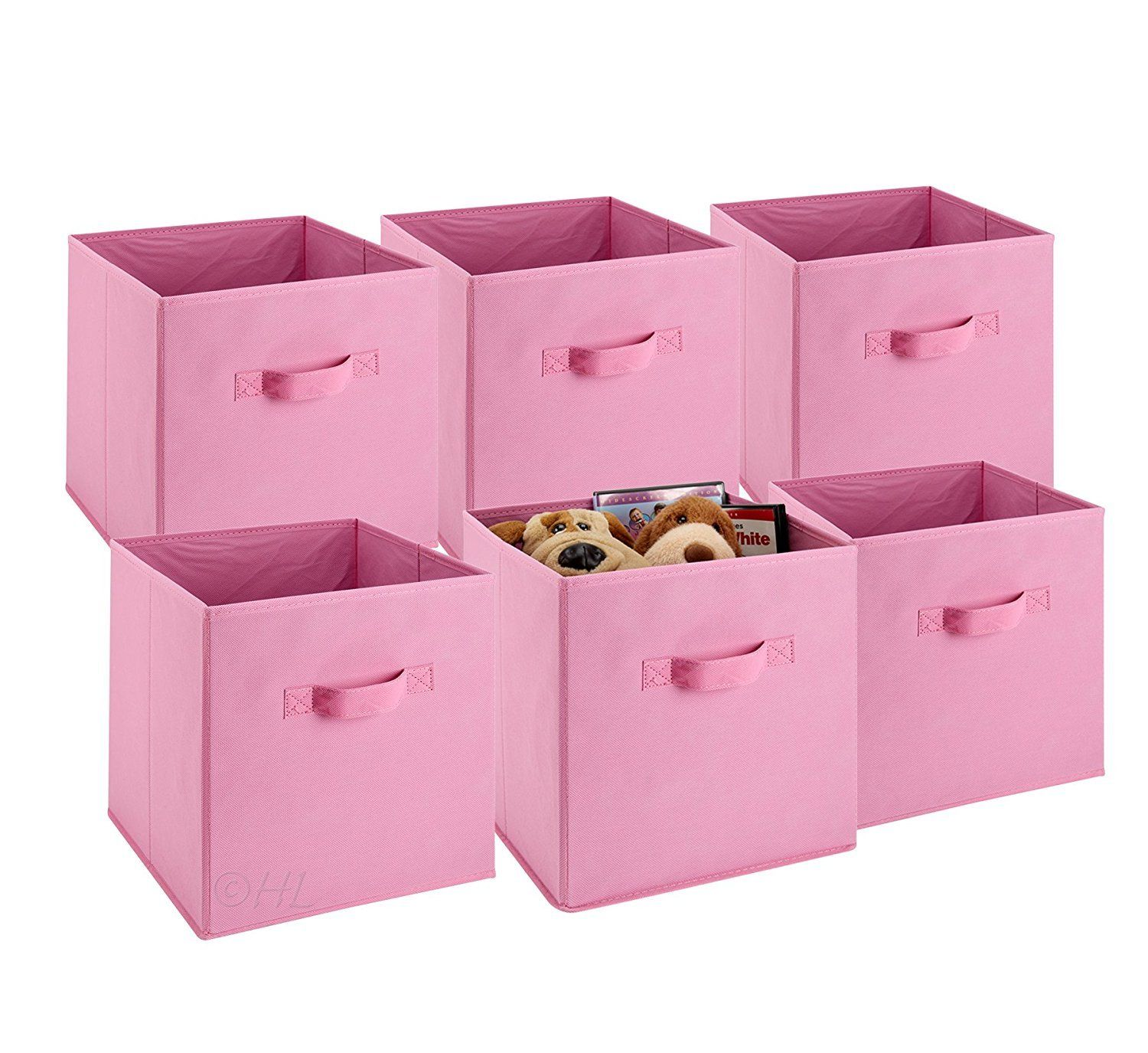Click here to buy Foldable Cube Storage Bins 6 Pack Decorative Fabric Storage Storage Cube Basket Bins... by ZJchao01.