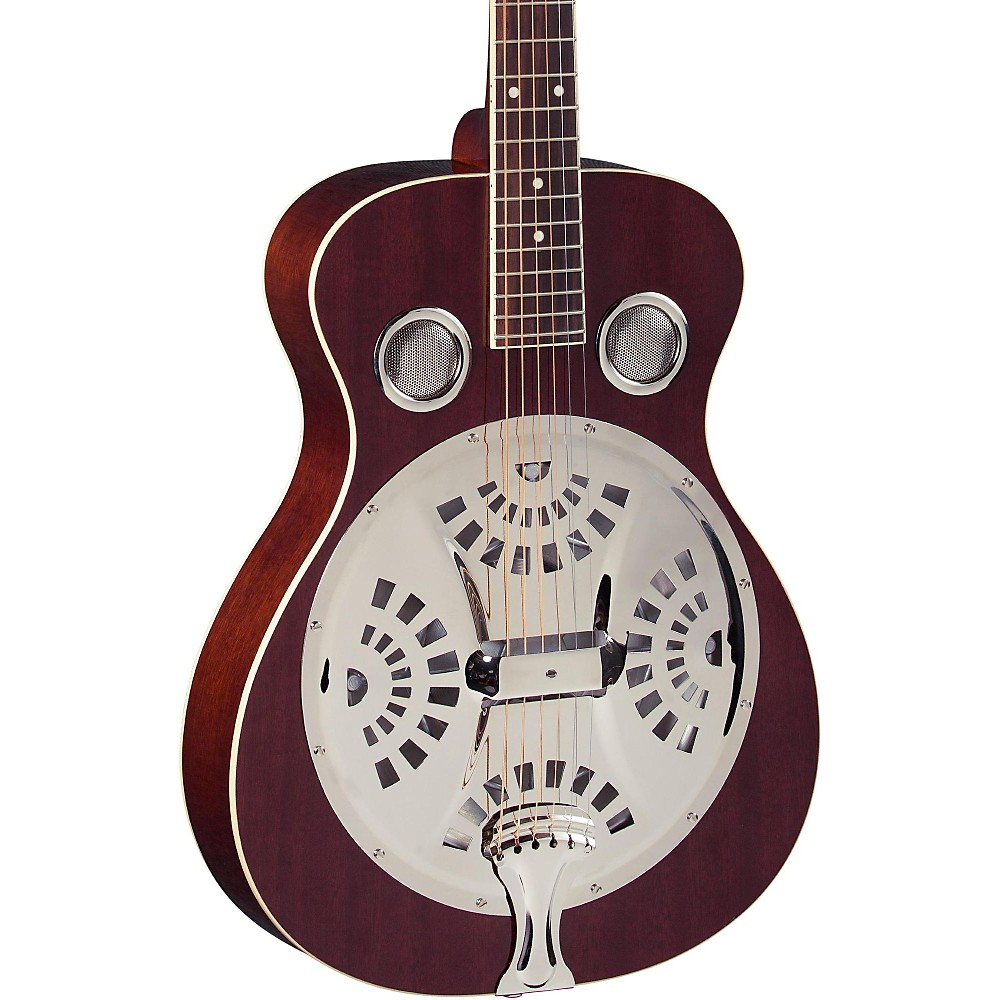 Regal RD-40 Resonator Natural Mahogany Round Neck by
