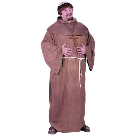 Medieval Monk Plus Halloween Costume](Medieval Costume Men)