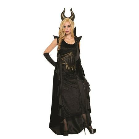 Wicked Dragon Dress Adult Womens Halloween Costume Evil Queen Size Standard