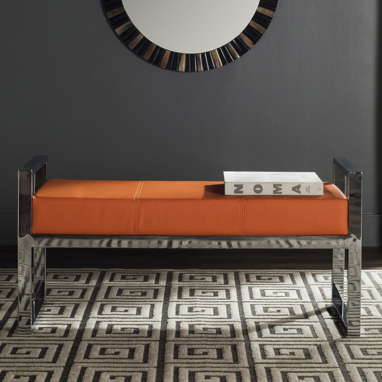 Safavieh Slade Bicast Leather Bench, Multiple Colors