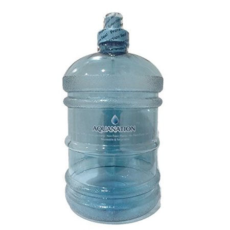 (AquaNation 1/2 Gallon Water Bottle Jug Daily 8 Polycarbonate Half Gallon Plastic Sports Gym Fitness Water Bottle Jug Portable Camping Hiking Water Bottle Canteen (Green))