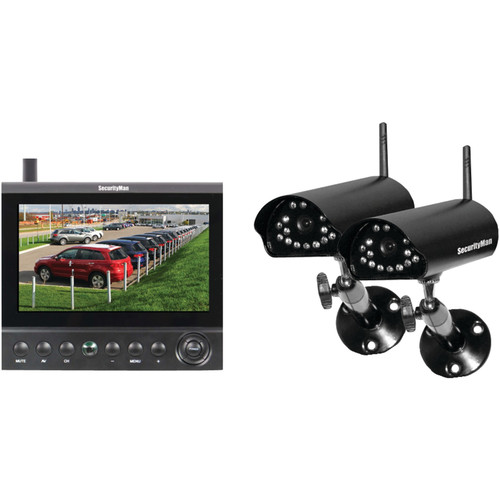 DIGILCDDVR2 4CH WL SECURITY SYST 2CAMS WITH 7IN LCD DVR
