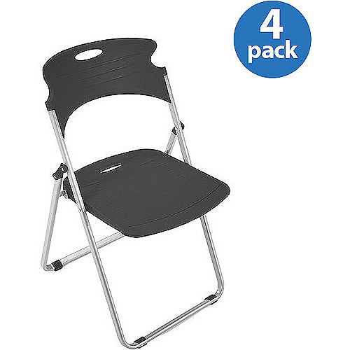 OFM Flexure Series Model 303 Plastic Folding Chair, Black Licorice