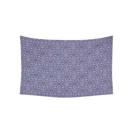 - PHFZK Flower Floral Wall Art Home Decor, Damask Pattern Purple Tapestry Wall Hanging 60 X 40 Inches