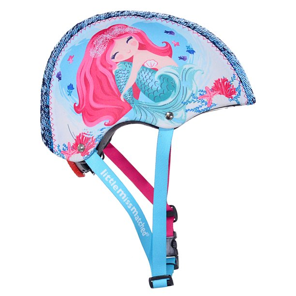 LittleMissMatched Mermaid Sequin Multi-Sport Child's Helmet, Teal