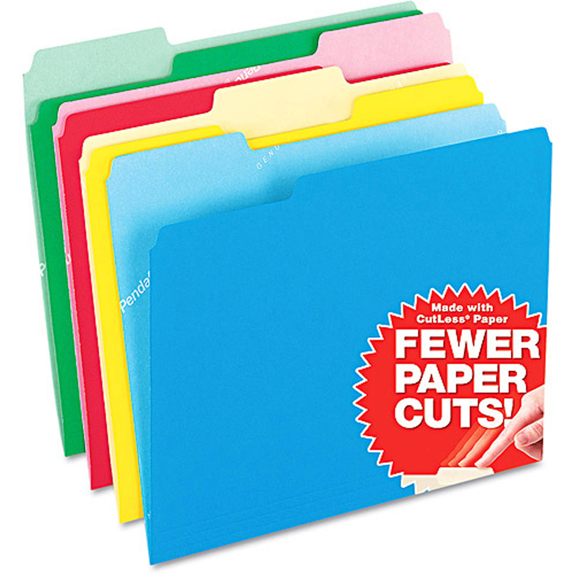 Pendaflex CutLess File Folders, 1/3 Cut, Top Tab, Letter, 100 Per Box