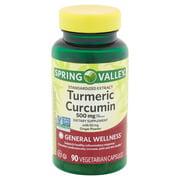 Spring Valley Turmeric Curcumin Vegetarian Capsules, 500 mg, 90 count