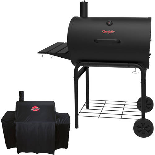 Char-Griller Deluxe Barrel Grill and BONUS Grill Cover Bundle